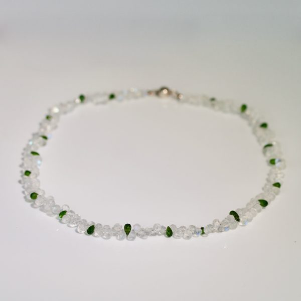 Tsavorite & moonstone necklace