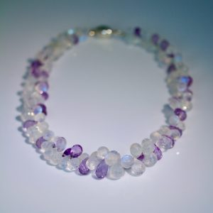 Moonstone & amethyst necklace
