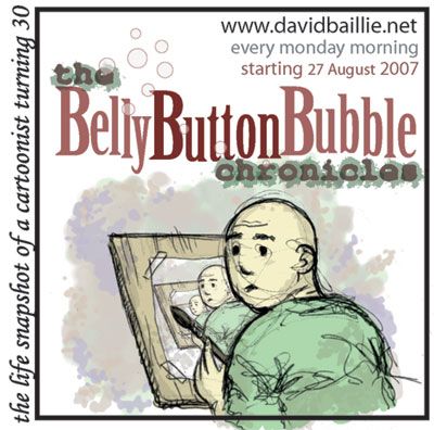 Advert for The Belly Button Bubble Chronicles by David Baillie
