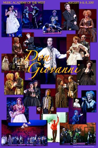 """Photo Poster from """"Don Giovanni"""" - Music Adacemy of the West"""