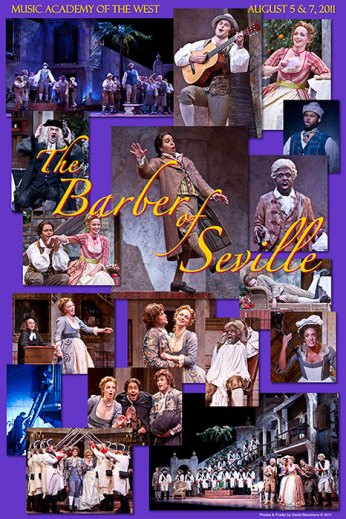 """Photo Poster from """"The Barber of Seville"""" - Music Adacemy of the West"""