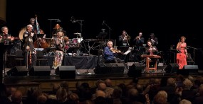 """Itzhak Perlman and members of the Klezmatics, the Klezmer Conservatory Band and Brave Old World. """"In the Fiddler's House"""" 20th Anniversary concert- UCSB Arts & Lectures 1/23/17 The GranadaTheatre"""