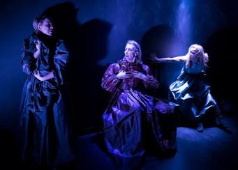 "Paige Tautz, Victoria Finlayson and Nina Sallinen - Lit Moon Theatre Company's ""Richard III"" 3/7/17 Westmont College Black Box Theater"