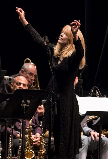 Maria Schneider leading The Maria Schneider Orchestra at the Lobero Theatre 2/20/17