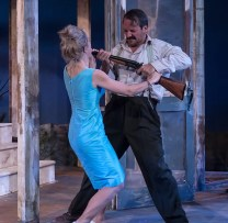 """Lily Nicksay & Shawn Law in Ensemble Theatre Company's production of Tennessee Williams's """"Baby Doll"""