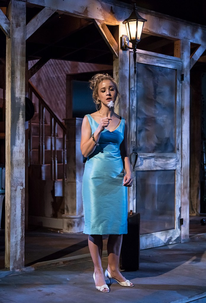 """Lily Nicksay in Ensemble Theatre Company's production of Tennessee Williams's """"Baby Doll"""