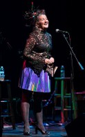 Snother great outfit for founder Peggie Jones - Sings Like Hell 6/24/17 The Lobero Theatre