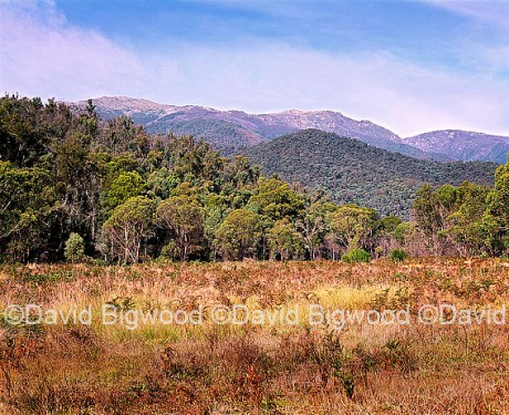 Main range from Geehi, Snowy Mountains, NSW, Australia