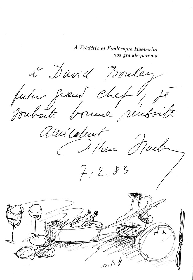 David Bouley Aberland Sketch from nos grandparents