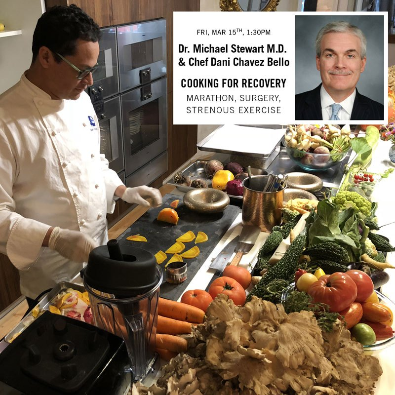 Cooking Class for Recovery from Marathon, Surgery and Strenuous Exercise