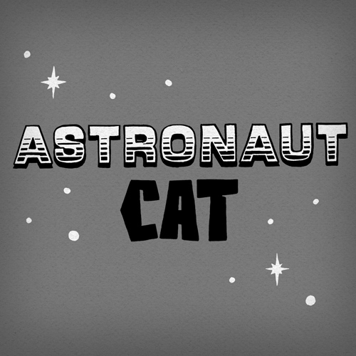 Astronaut Cat Lettering