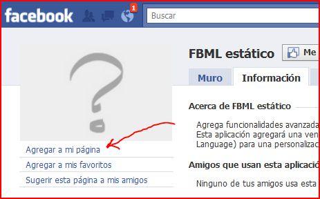 agregar fbml a mi pagina