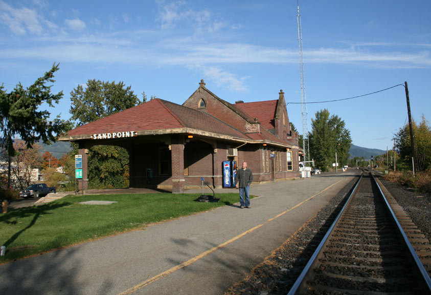 At the Sandpoint, ID Amtrak train station.