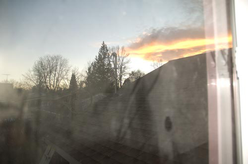 Lisa's sunset view.