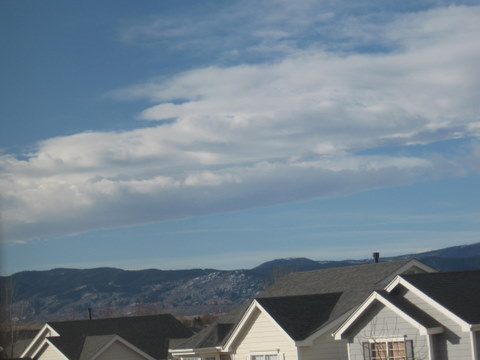 Alex's snapshot from just south of Denver