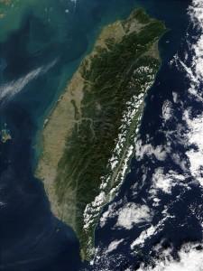 The island of Taiwan.