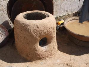 A bread oven at a farm.