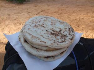 Bread! From a campfire at Ksar Ghilane oasis.