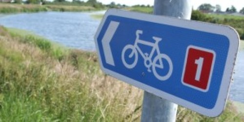 Blue NCN 1 sign