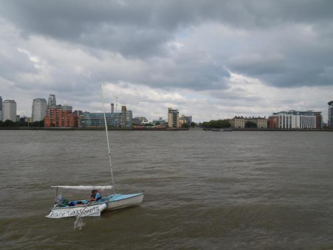 Rowing a sixteen-foot dinghy under thunderous skies: insignificance is no obstacle to most living.