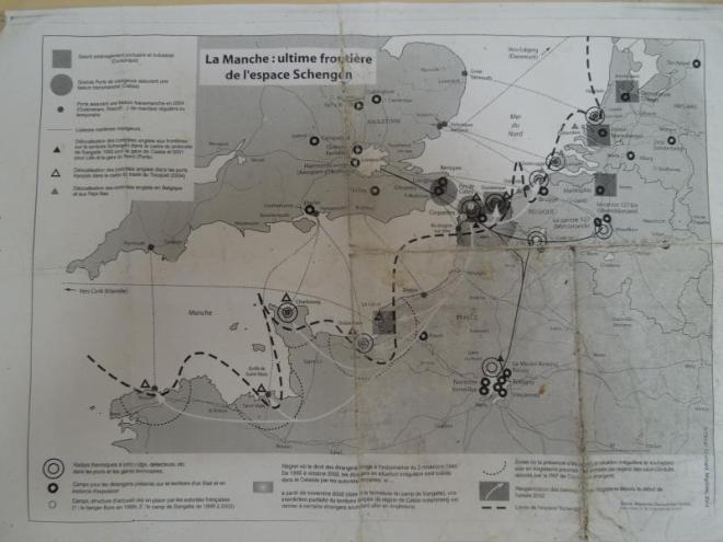 Do we need borders? Map of border defences between Britain and France