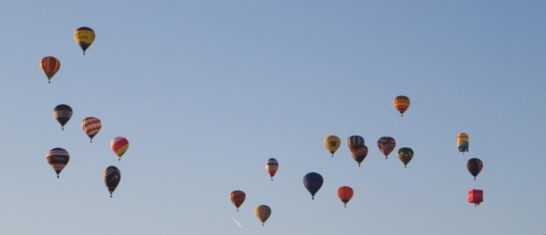 Hot air balloons over Camden