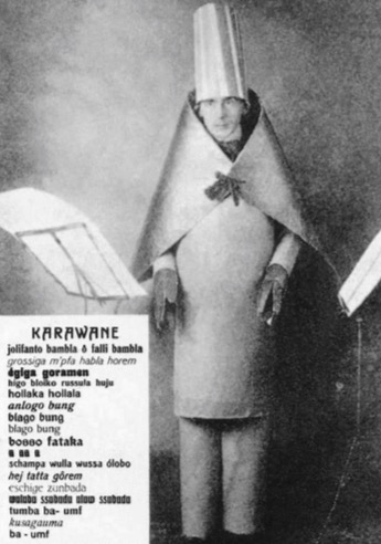 hugo-ball-in-cabaret-voltaire-performing-karawane