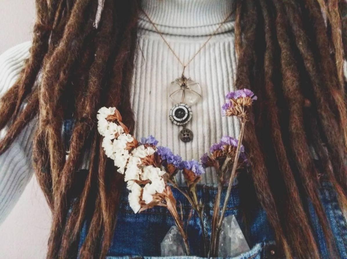 oh miss bailey flowers and dreadlocks