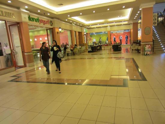 inside a shopping center