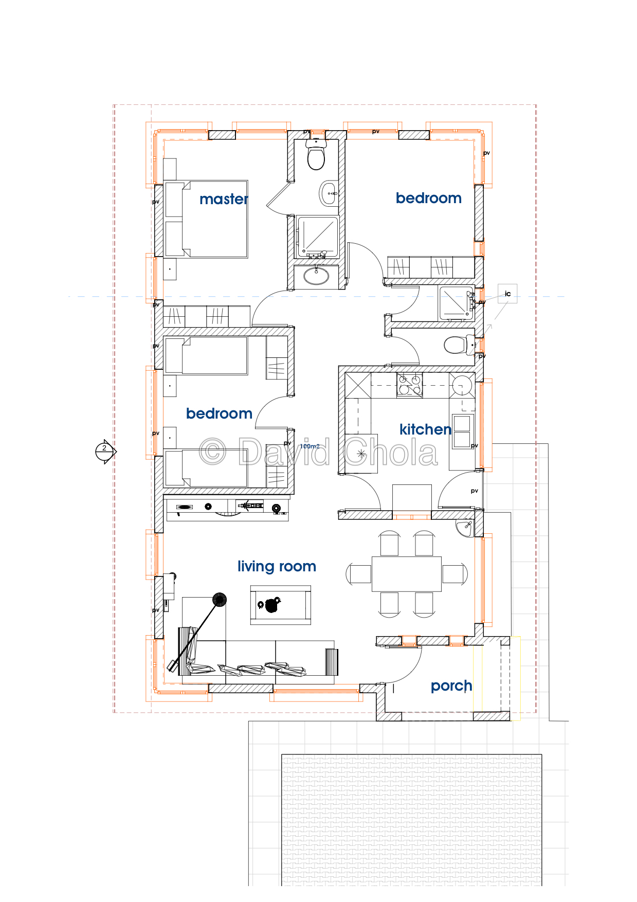 The Budget 3 Bedroom Bungalow House Plan