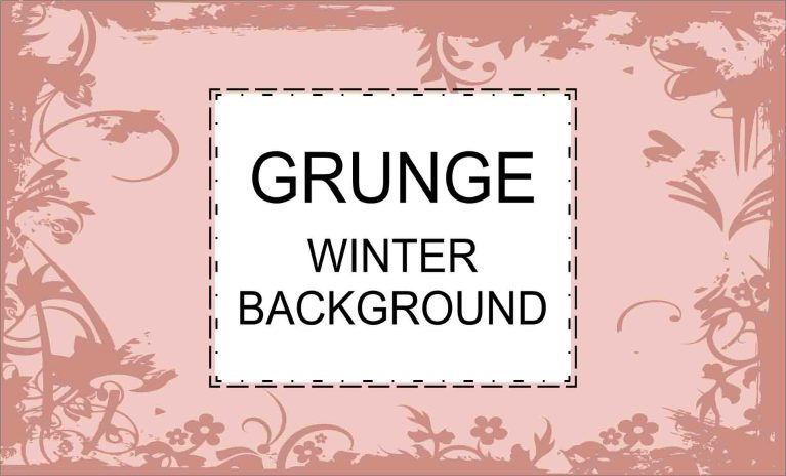Pacote desenhos Grunge Winter plano de fundo 2021