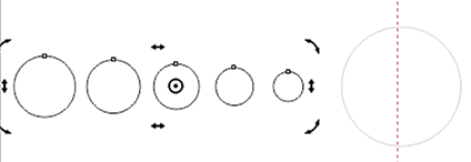 Mandala círculos alterar eixo