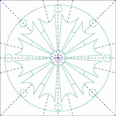 Arabesco Octogramas Esboço Completo