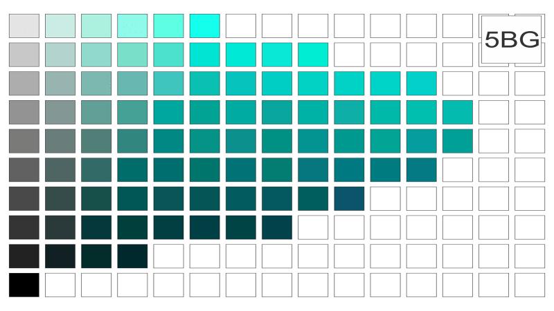 Azul e verde 5bg