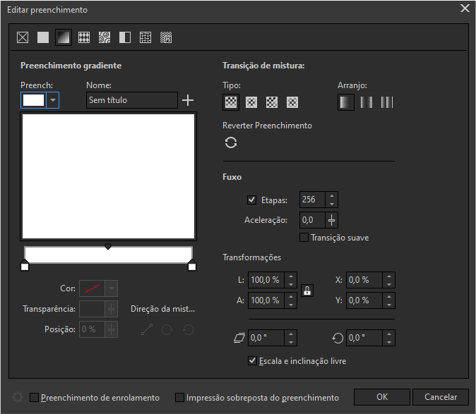 CorelDRAW Editar preenchimento