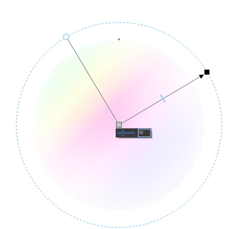 CorelDRAW Configurando raio transparência