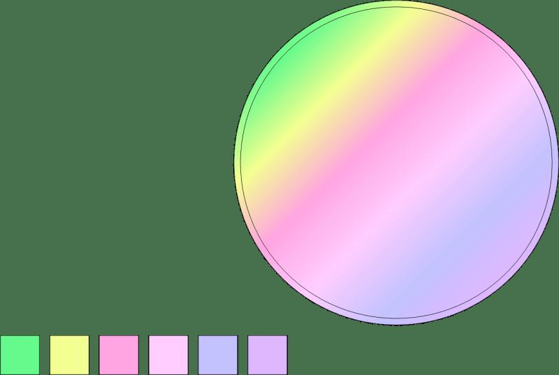 CorelDRAW Elipse duplicada bolha de sabão
