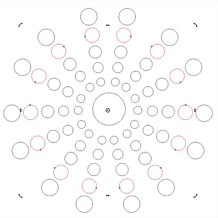 Mandala círculos rotação