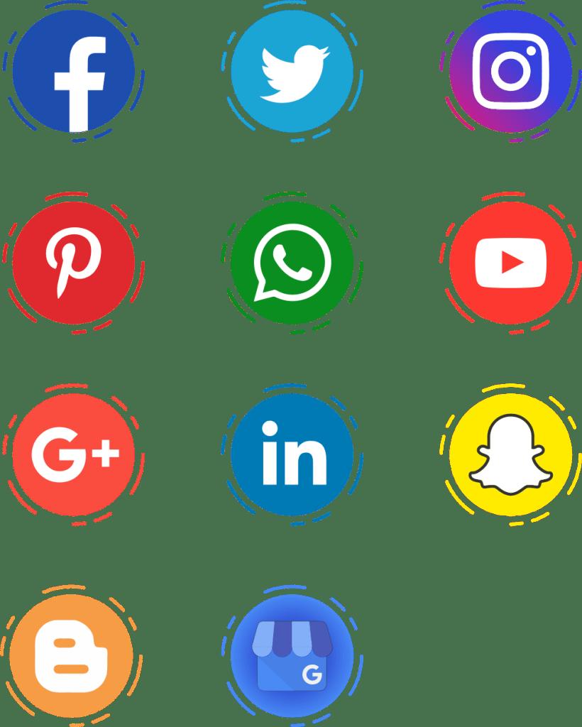CorelDRAW Icones redes sociais gratuitos
