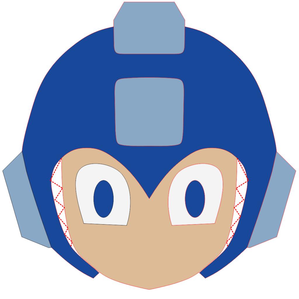 Mega Man Preenchimento capacete