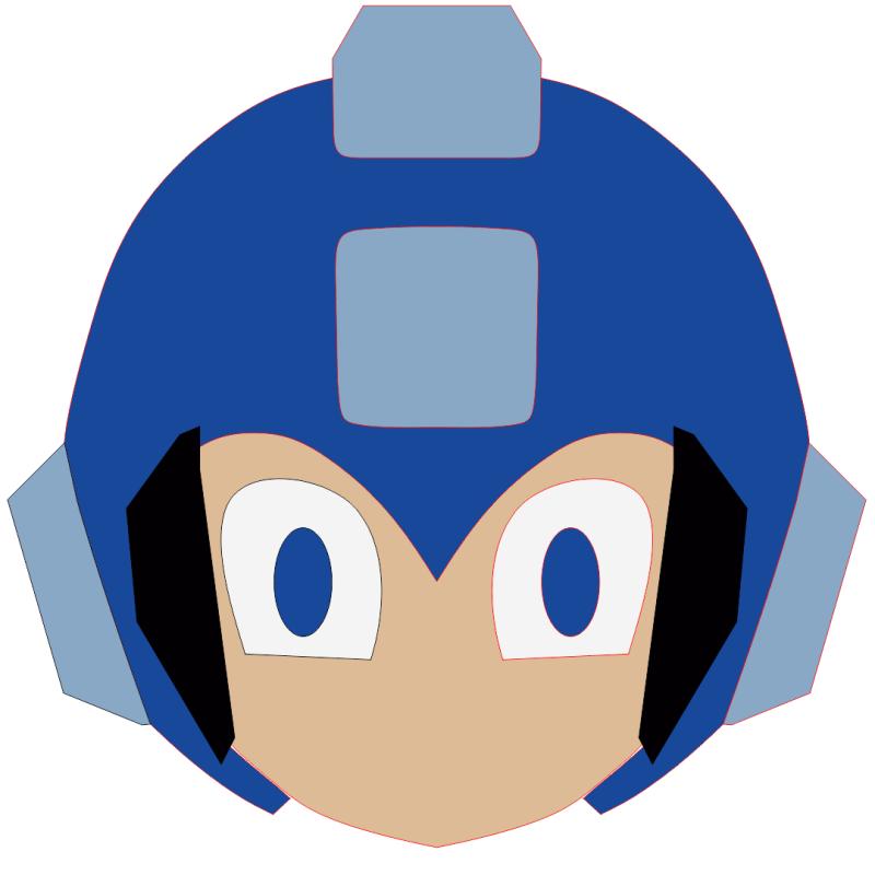 Mega Man objetos de preenchimento