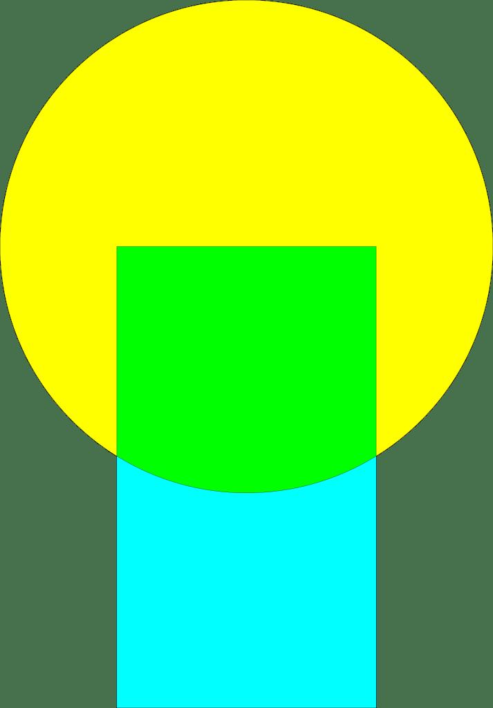 CorelDRAW Cartão digital área de intersecção
