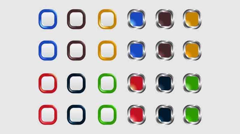 Botões Quadrados Vazios