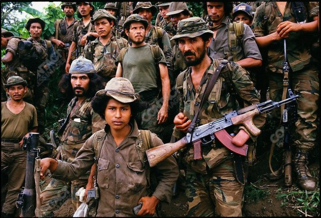 Heavily armed Contras