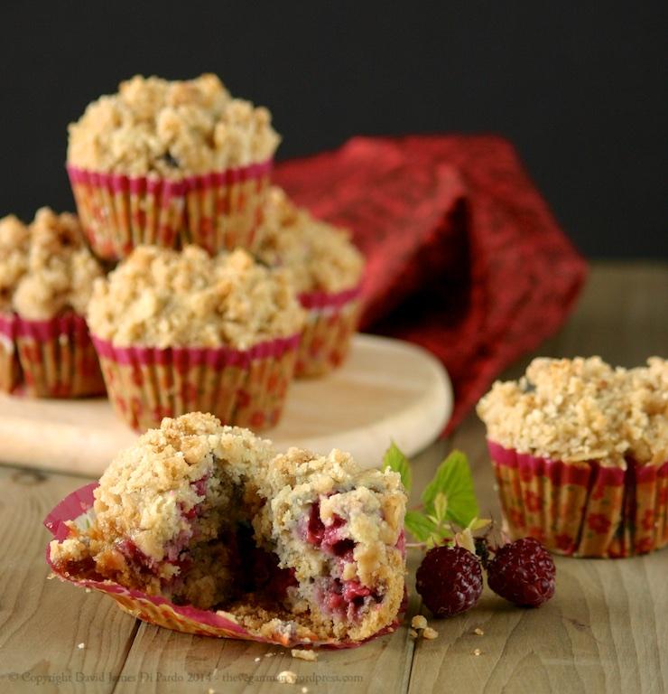 Raspberry Oat Crumb Muffins 01