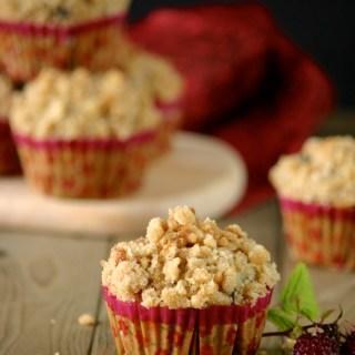 Raspberry – Oat Crumb Muffins