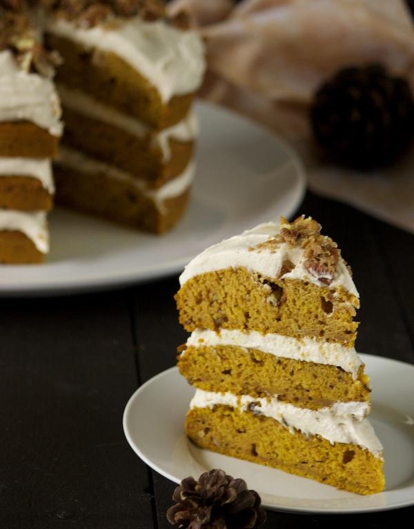 Pumpkin Pecan Cake 06