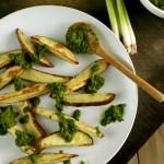 Roasted Potato Wedges and Chimichurri