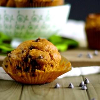 Gluten-Free Vegan and Refined Sugar-Free Pumpkin Chocolate Chip Muffins