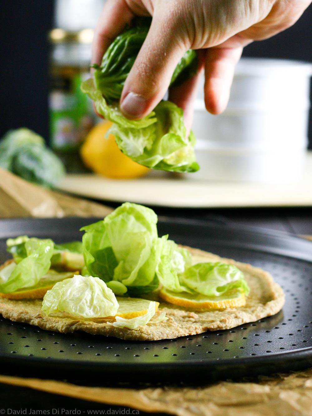 Lemon Brussels Sprout Pizzas